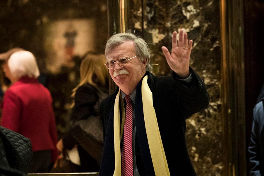 在特金會到來前夕,特朗普總統任命曾經倡導對北韓進行軍事打擊的博爾頓(John Bolton)為國家安全顧問。(Drew Angerer/Getty Images)