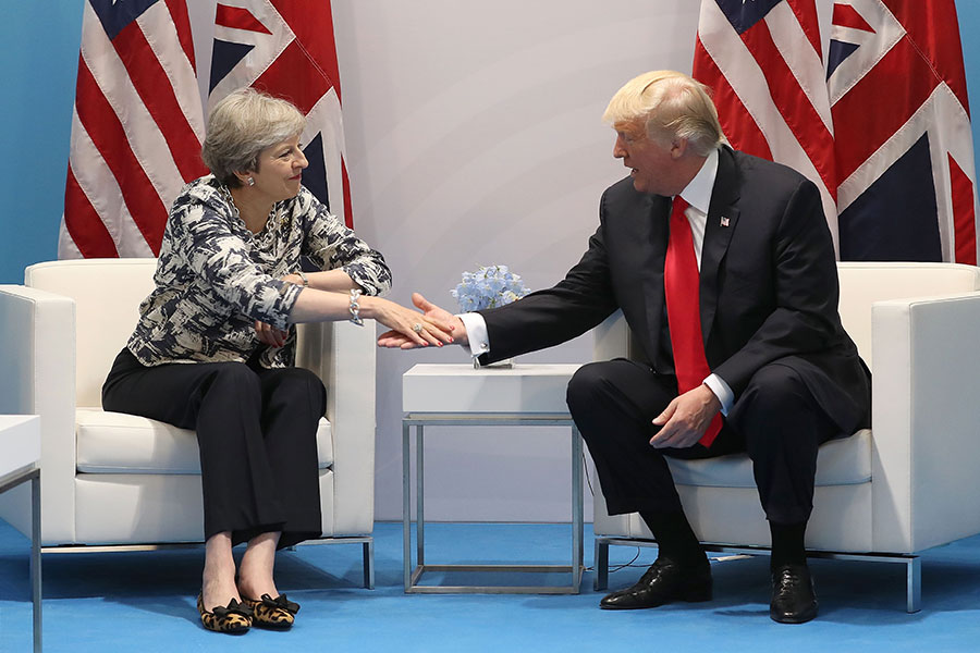 前俄羅斯間諜在英國疑遭俄國施以神經劇毒案,英國政府近日驅逐20多名俄國外交官,特朗普政府周六表示考慮對俄國採取行動。(Matt Cardy/Getty Images)