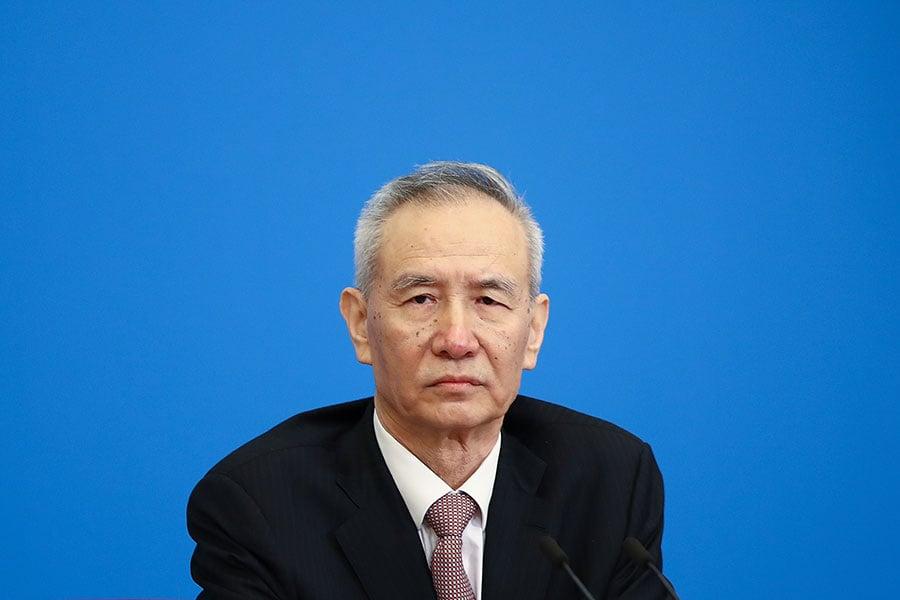 分析稱,帶隊參加貿易談判的副總理劉鶴面臨著兩難的困境。(Lintao Zhang/Getty Images)
