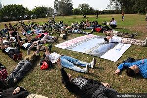 上百人守護南生圍 籲政府保育