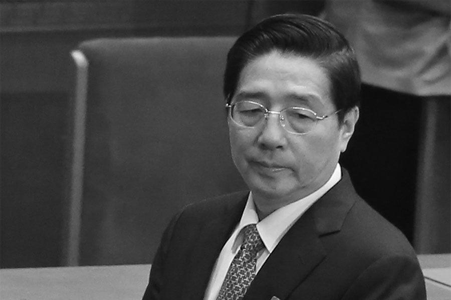 中共江派政法委書記郭聲琨(圖),被剝奪四大權力後,日前,習近平的舊部陳一新再兼跨軍地改革工作小組組長這一要職,郭聲琨的權力進一步縮水。(Feng Li/Getty Images)