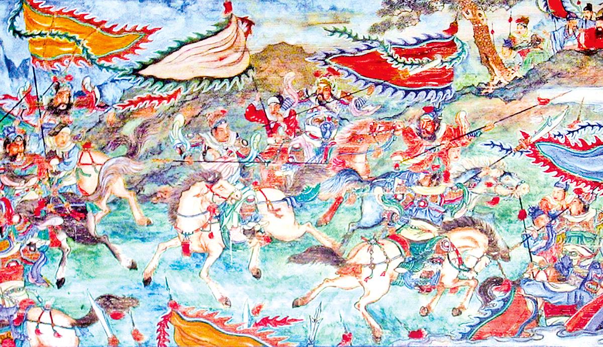 北京頤和園長廊壁畫《趙雲救主於長阪坡》(Rolfmueller/維基百科)