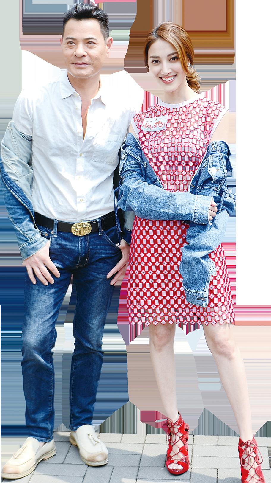 黃智賢與陳凱琳在劇中飾演義父義女。(宋碧龍/大紀元)