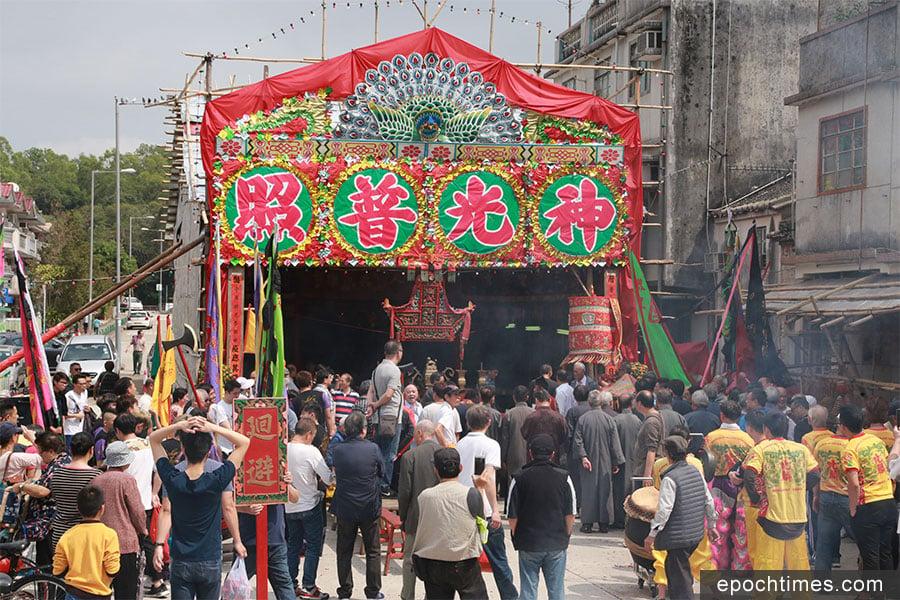 眾多彭氏族人參與太平洪朝儀式。(陳仲明/大紀元)