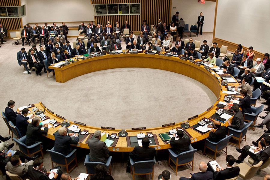 中共和俄羅斯在聯合國領導一場隱秘的行動,試圖削弱聯合國在全世界保護人權的努力。(Andrew Burton/Getty Images)
