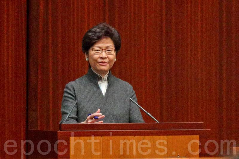 林鄭月娥昨日出席立法會每月一次的「短問短答」。(李逸/大紀元)