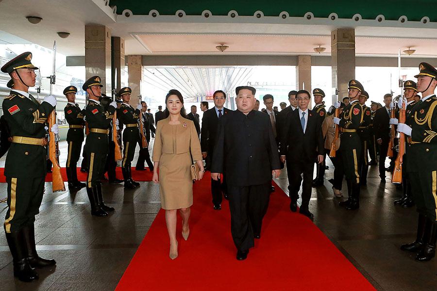 金正恩秘密訪華,引發全球關注,美國總統特朗普向金正恩提出忠告,促其作出正確選擇。(AFP/Getty Images)