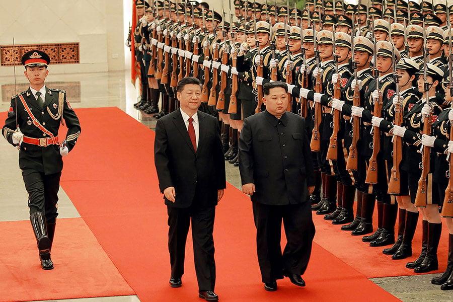 金正恩秘密訪問北京。(AFP/Getty Images)