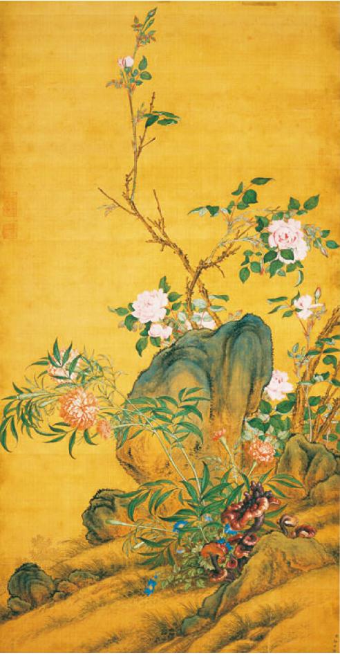郎世寧《萬壽長春圖》。(維基百科)