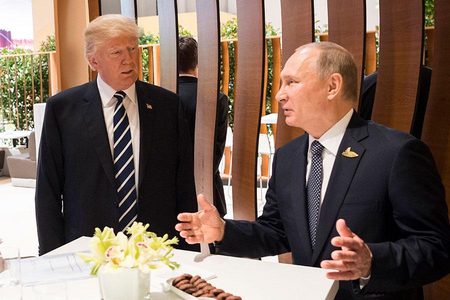 白宮周一(4月2日)說,特朗普總統跟俄羅斯總統普京討論了會晤的可能性,並暗示白宮是「可能的場所」。(BPA via Getty Images)