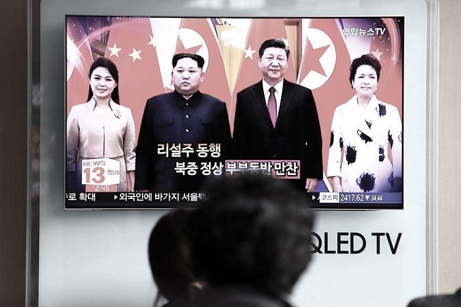 中共官媒證實金正恩於3月25日至28日祕訪中國。(Chung Sung-Jun/Getty Images)