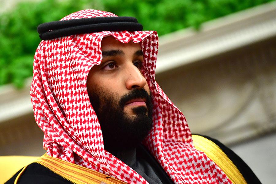 沙特阿拉伯王儲4月2日在接受媒體採訪時意外地肯定了以色列的存在,批評美國前總統奧巴馬的伊朗政策,以及支持特朗普總統的中東議程。(Kevin Dietsch-Pool/Getty Images)