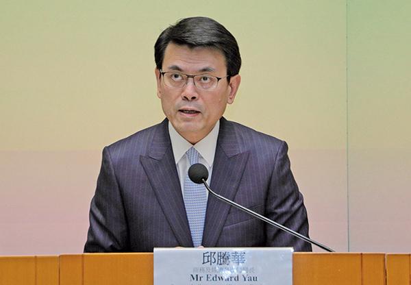 中美貿易經港轉口 邱騰華憂金融動盪