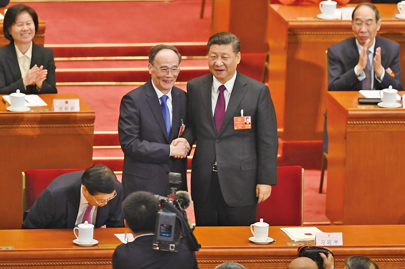 王岐山在今年兩會上強勢回歸,出任國家副主席。(Getty Images)
