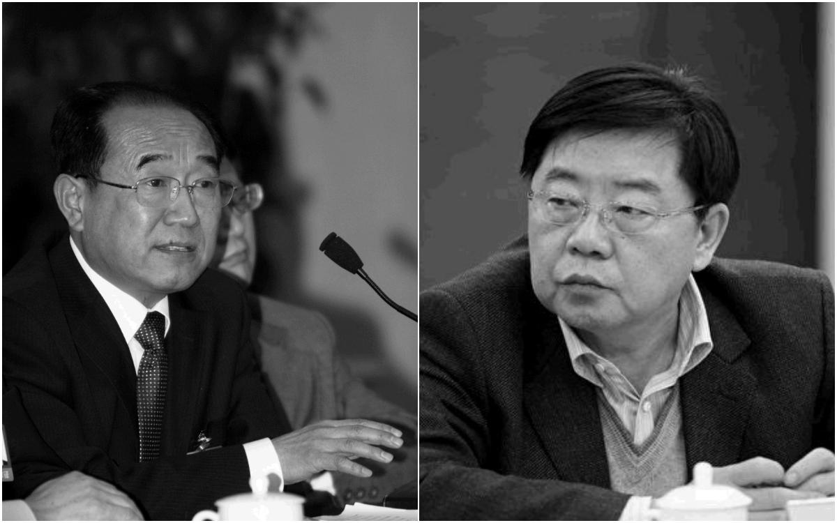 中共新疆人大常委會前副主任栗智(左)和中國第一汽車集團公司前董事長徐建一(右)分別被判刑12年及11年半。(大紀元資料室/大紀元合成)