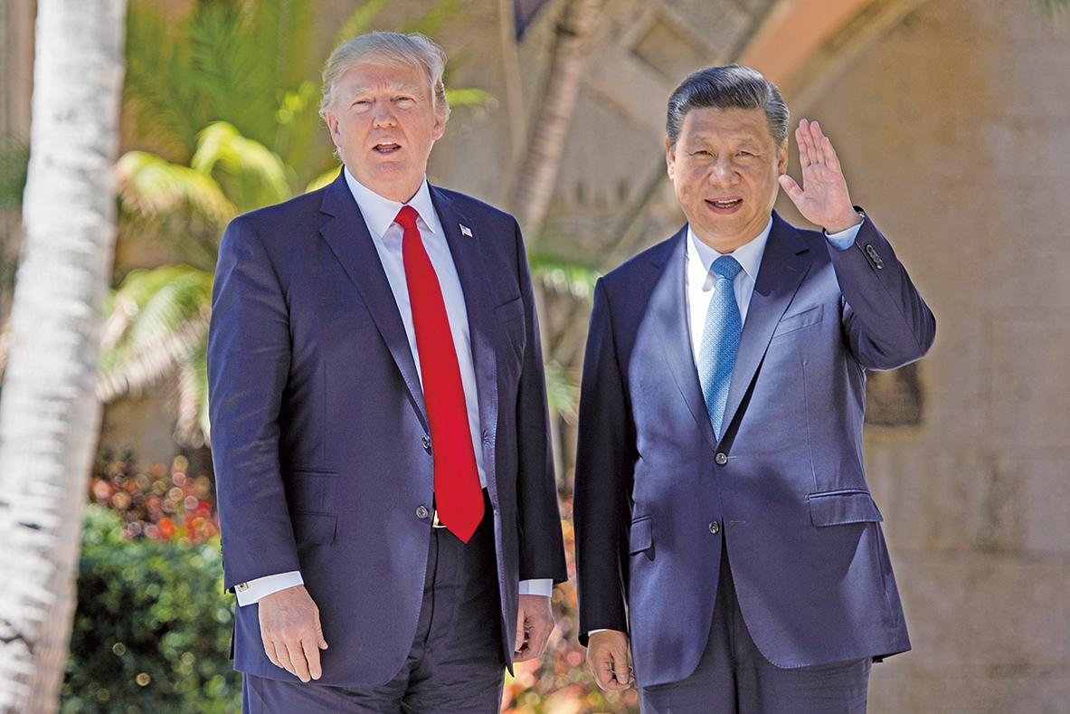 對於中方報復性的關稅,特朗普重申沒有貿易戰,僅是尋求解決中美方巨額貿易逆差。圖為2017年11月份習特會資料照片。(Getty Images)