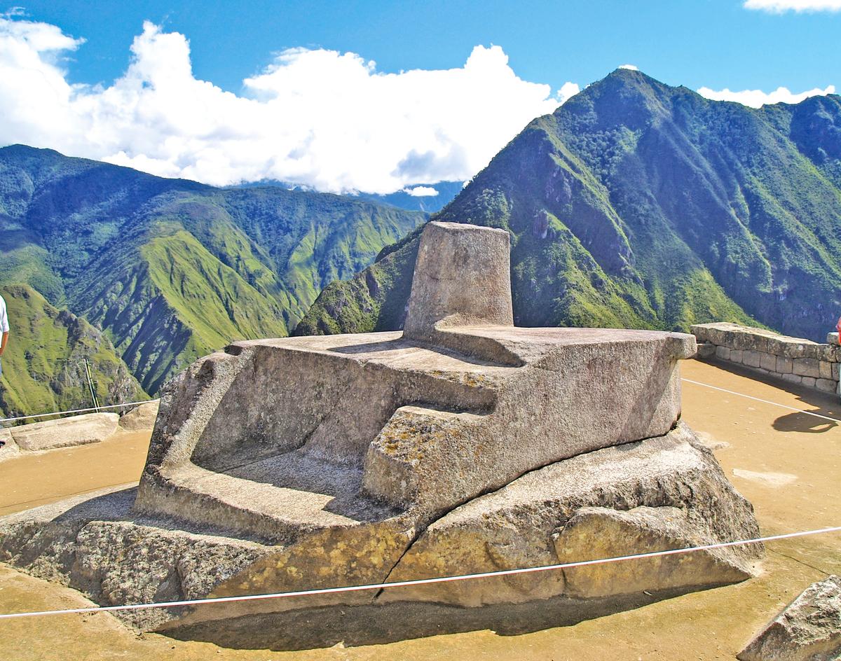 拴日石據說是印加人設計的天文學時鐘。(Fotolia)