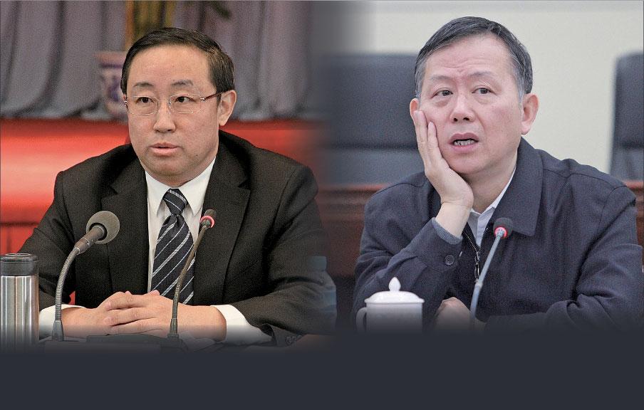 近日,傅政華(左)的公安部常務副部長職務被免,黃明(右)的公安部副部長職務被免。(大紀元資料室)