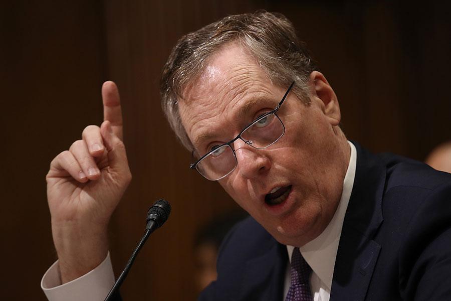 主導301調查的美國貿易代表萊特希澤。(Win McNamee/Getty Images)