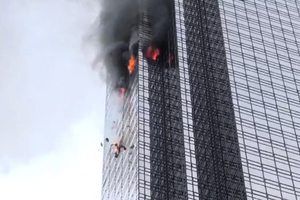 特朗普大廈失火1死 140消防員撲救