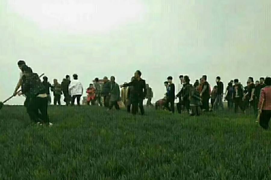 4月4日,陝西永壽縣甘井鎮北甘井村因暴力徵地釀慘案,一死多傷。(村民提供)