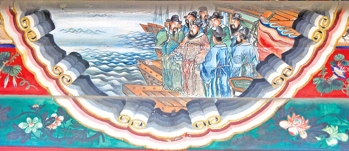 頤和園長廊彩繪 曹操賦詩(Shizhao/維基百科)
