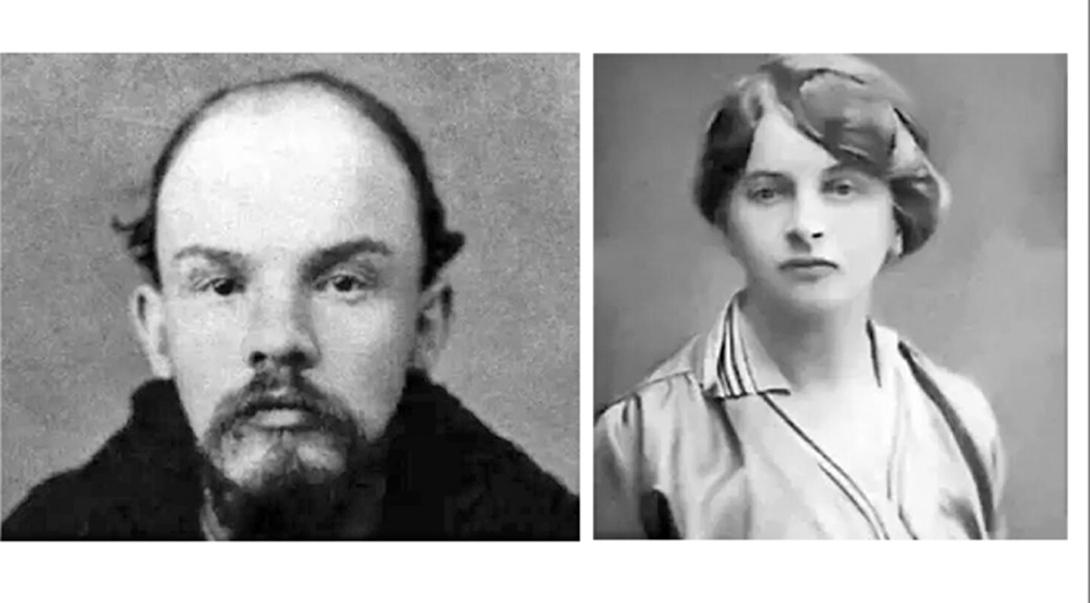 列寧和情婦伊涅莎‧阿尔芒(合成圖片)