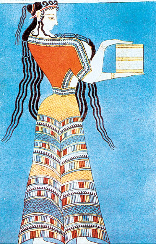 克里特島上的米諾斯文明壁畫。