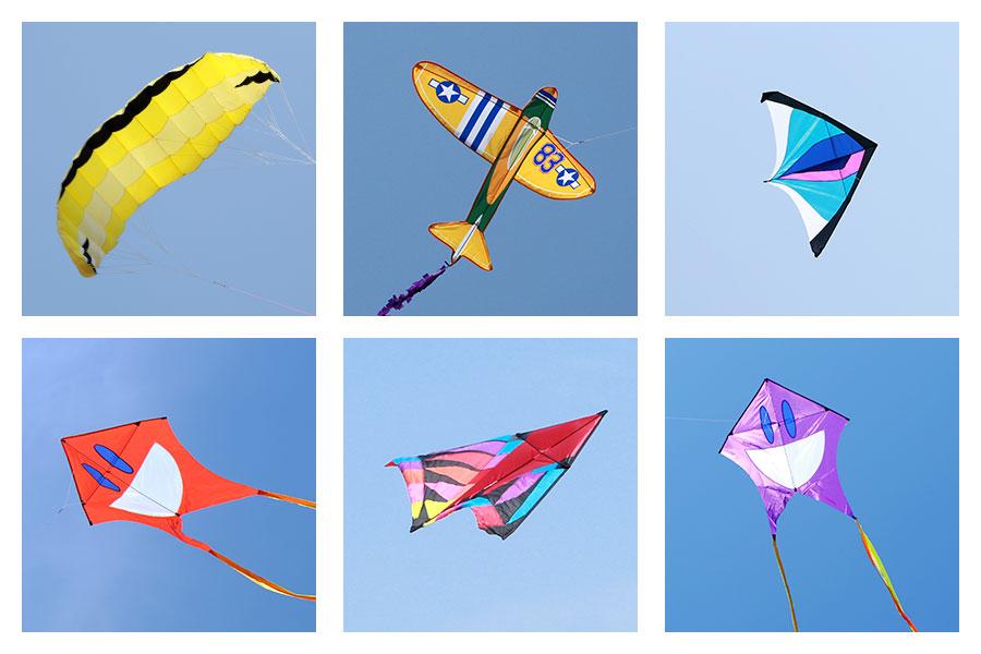 Haiven銳意設計一些感覺比較震憾的風箏款式,以突顯他們的獨特性。(陳仲明/大紀元、飛凡創藝提供)