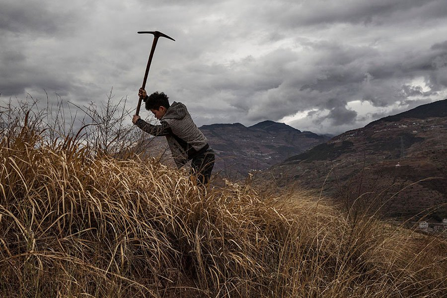 中共農業農村部長在博鰲亞洲論壇上的講話中,隱晦指出中國農村目前的「蕭條」和「凋敝」現狀。(Kevin Frayer/Getty Images)