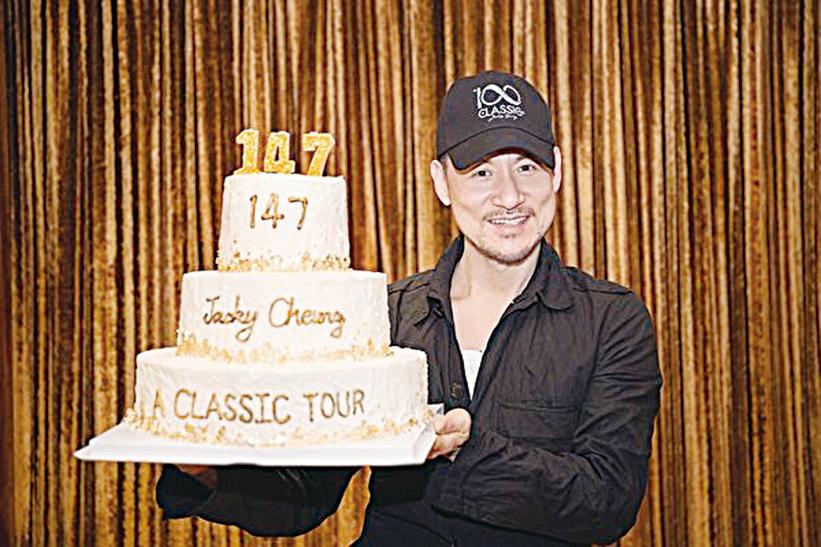 張學友4月1日在紹興站完成了第147場演唱會,刷新了上次巡演146場的紀錄。(環球唱片提供)