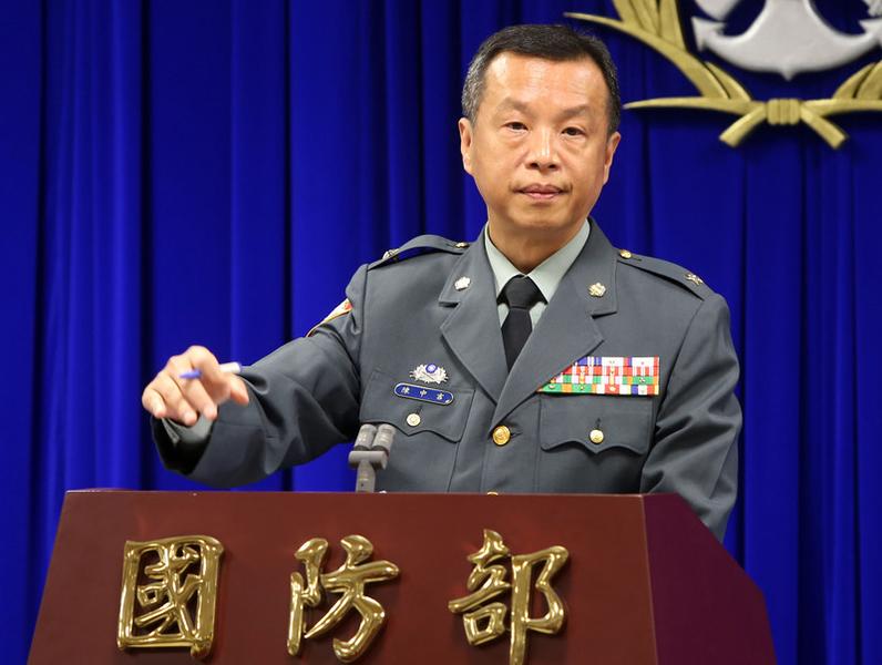 台灣國防部發言人陳中吉4月12日表示,國防部發言人陳中吉指出,國軍針對台灣周邊海空狀況充分監偵,民眾可以放心。(中央社)