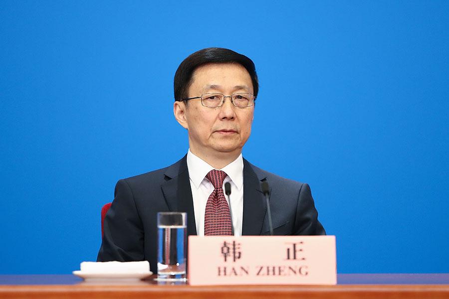 韓正意外接管香港事務。(Lintao Zhang/Getty Images)