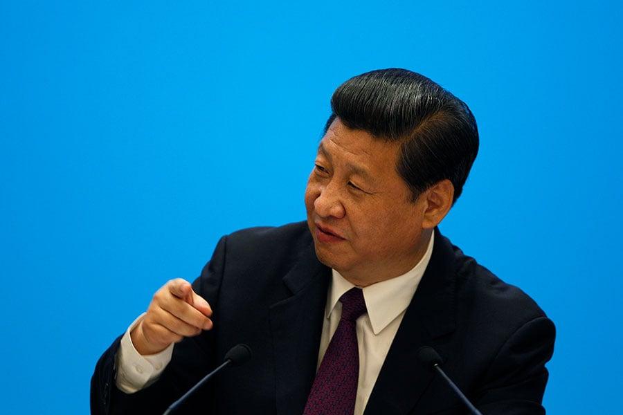 習近平表示:「我要明確告訴大家,中國開放的大門不會關閉,只會越開越大。」(TYRONE SIU/AFP/Getty Images)