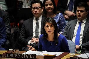 黑利:敘利亞若再用化武 美必再「子彈上膛」