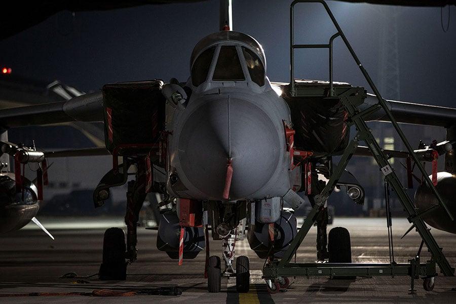 英國皇家空軍狂風戰機。(AFP PHOTO/CROWN COPYRIGHT 2018/MOD/CPL L MATTHEWS)