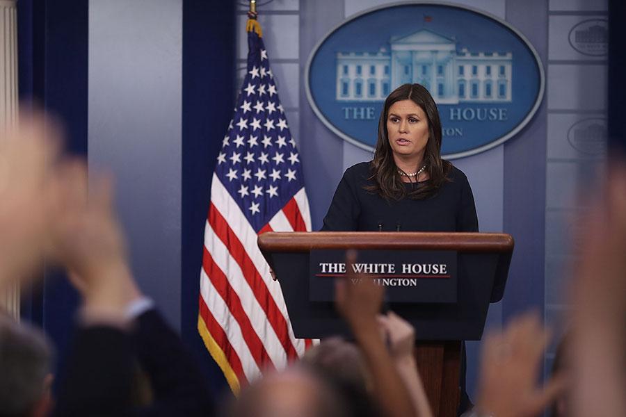 白宮周五晚在特朗普宣佈對敘利亞軍事行動不久後,發佈了對敘利亞化學武器攻擊的評估結果。(Mark Wilson/Getty Images)