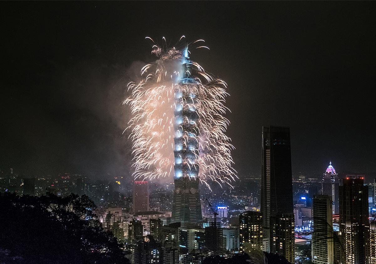 《紐約時報》於4月14日刊文指,台灣已經取代香港,成為亞洲言論自由的堡壘。圖為台北101大樓。(Billy H.C. Kwok/Getty Images)