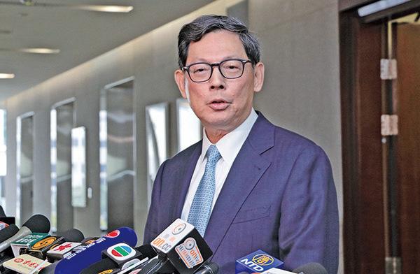 金管局總裁陳德霖昨出席活動時表示,貨幣體系是金融穩定與安全的根本,未來必須繼續維持實力雄厚的外匯基金,這是保衛香港金融安全的最後防線。(大紀元資料室)