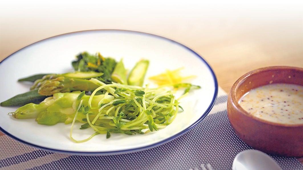 美味的蔬菜沙律。