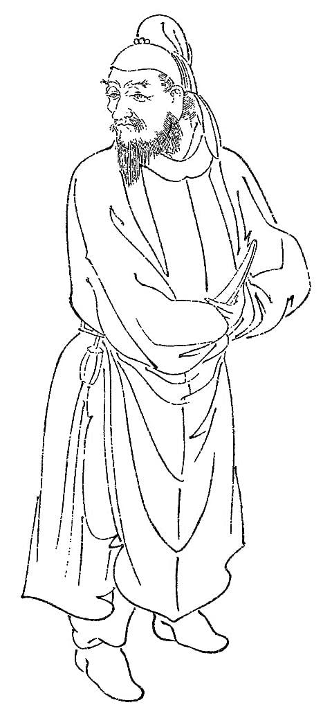 菊池容齋所繪阿倍仲麻呂畫像(維基百科公有領域)