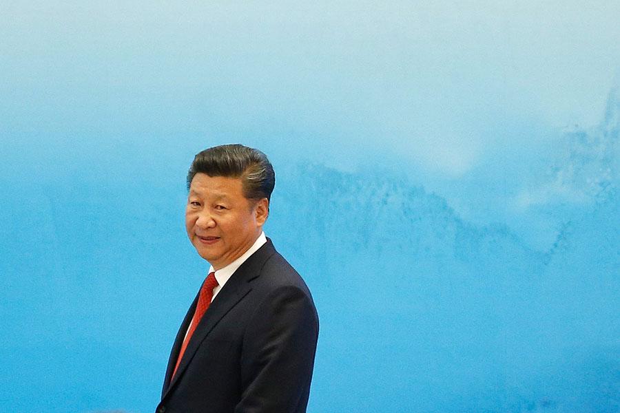 國家主席習近平說他「個人反對」終生執政,還說外國觀察者「誤解」了最近廢除主席任期限制的修憲舉動。(Aly Song - Pool/Getty Images)