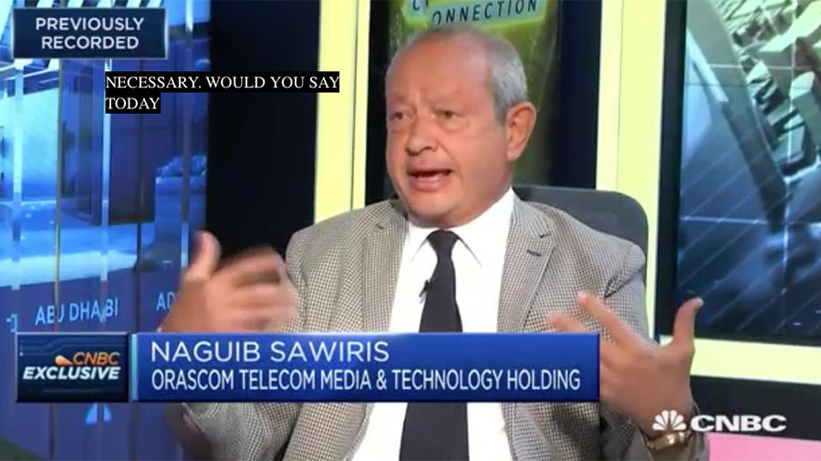 埃及億萬富翁那古布・薩維里斯(Naguib Sawiris)周一(4月16日)接受CNBC的採訪時表示,在前任總統奧巴馬和現任總統特朗普之間,「絕對是特朗普總統」施行了正確的外交政策。(視像擷圖)