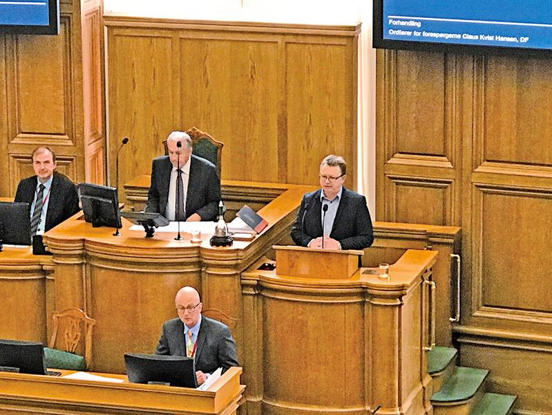 關注中共迫害法輪功 丹麥議會舉行專題答辯