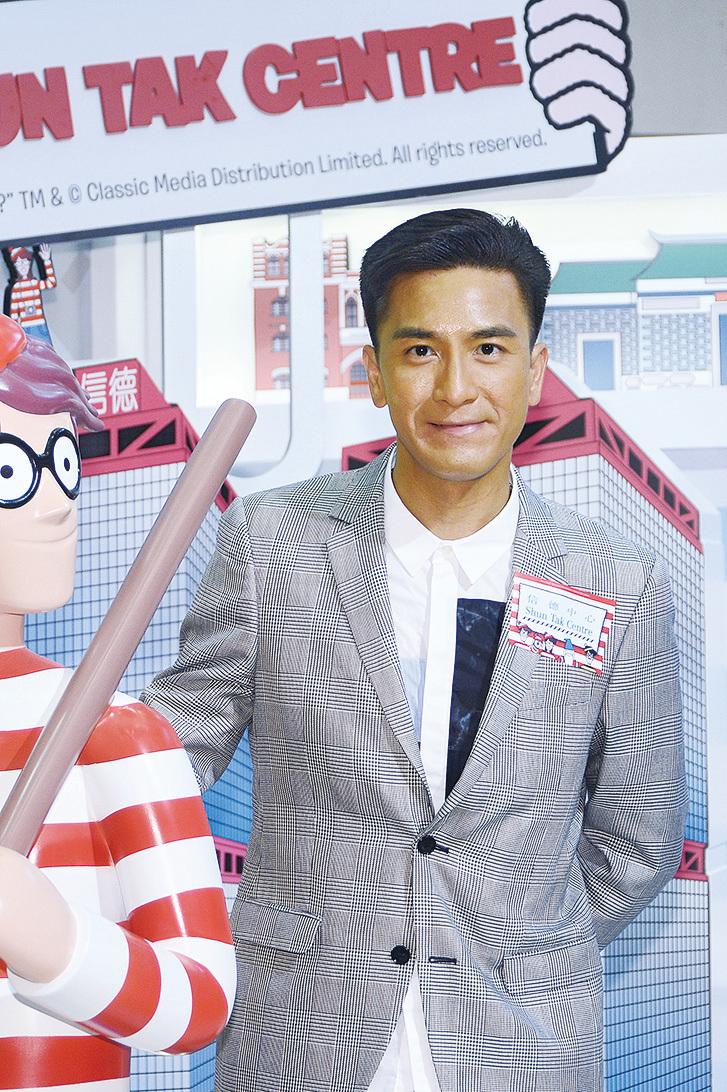 馬國明在無綫新劇《降魔的》中飾演的士司機,他表示沒想到草根角色會受歡迎。(宋碧龍╱大紀元)