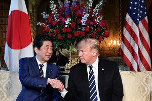 特朗普會安倍 重申繼續對北韓施加最大壓力
