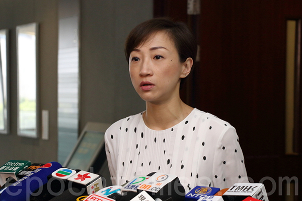 陳淑莊強調,若政府不成立新的公營機構負責調查及執法,新例等同「形同虛設」,她呼籲政府不能逃避責任。(蔡雯文/大紀元)