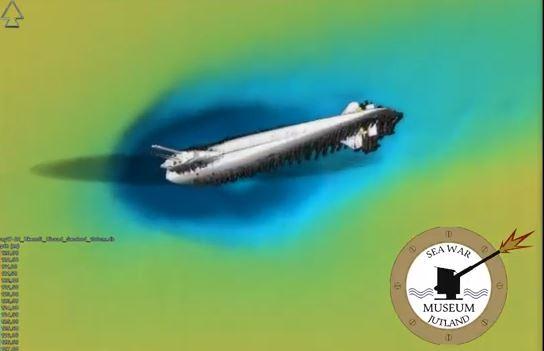 丹麥海戰博物館(Sea War Museum)在海平面以下大約403英尺處發現了這艘U-3523潛艇。(視像擷圖)