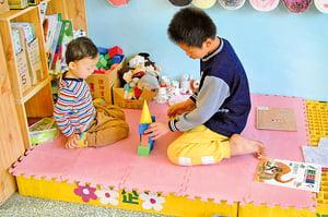 敎小孩分享玩具