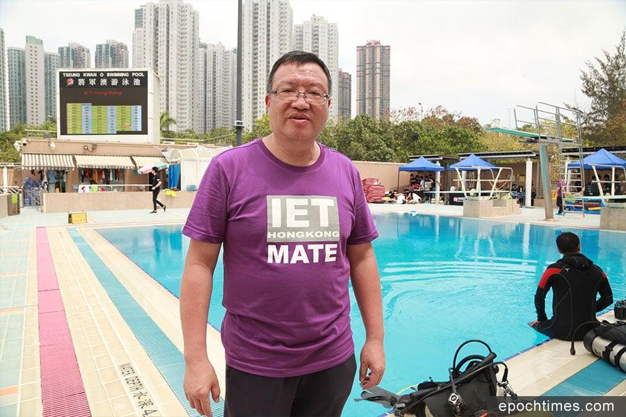 水底機械人挑戰賽主席趙烱成。(陳仲明/大紀元)